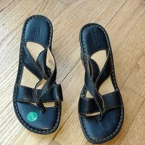 Born black wedge sandals size 7